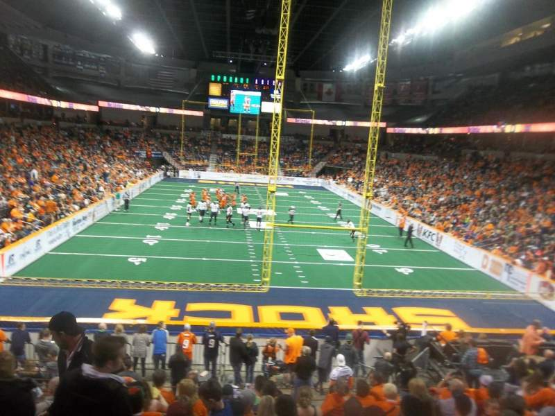 Seating view for Spokane Arena Section 122 Row S Seat 16