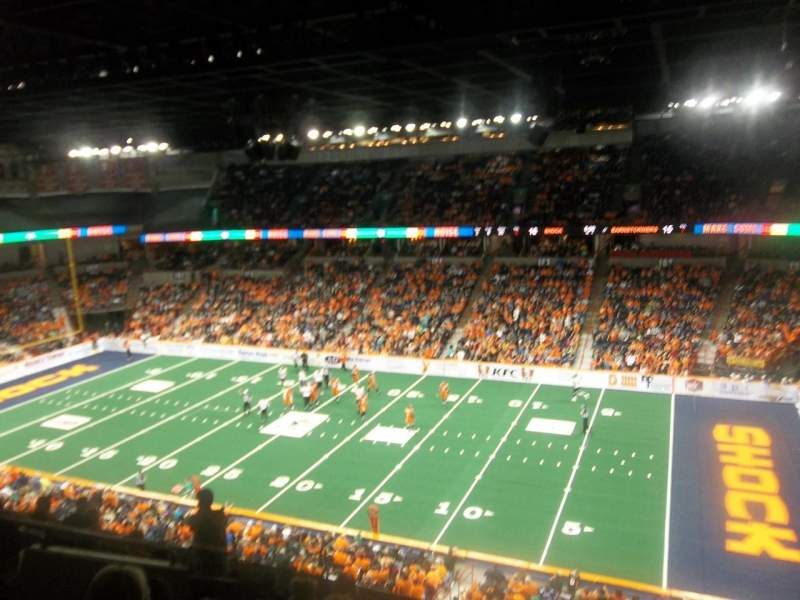 Seating view for Spokane Arena Section 218 Row L Seat 2