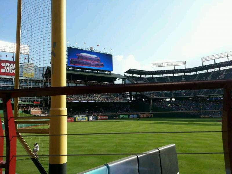 Seating view for Globe Life Park in Arlington Section 9 Row 1 Seat 16