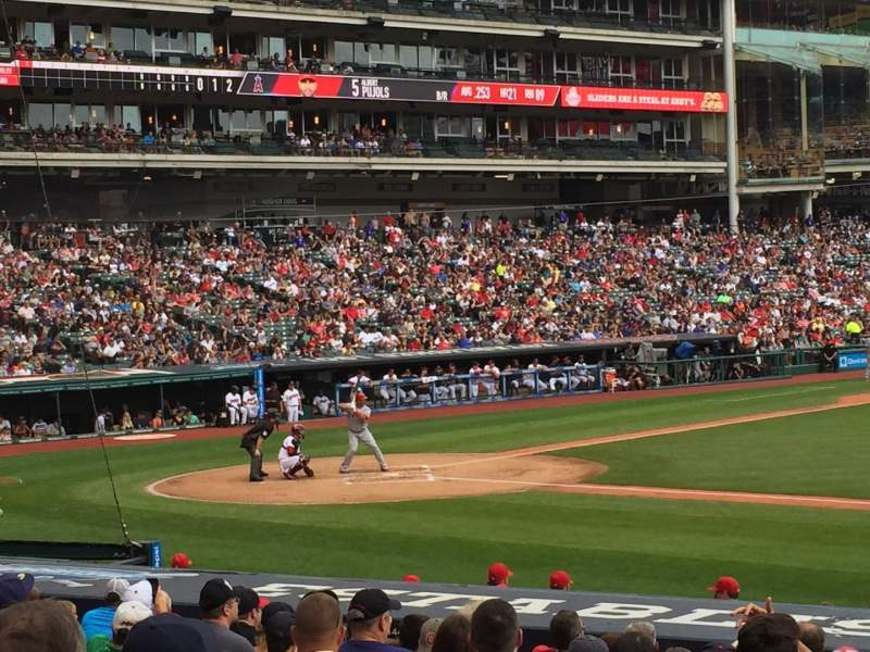 Seating view for Progressive Field Section 142 Row T Seat 9