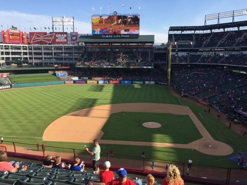 Seating view for Globe Life Park in Arlington Section 220 Row 9 Seat 12