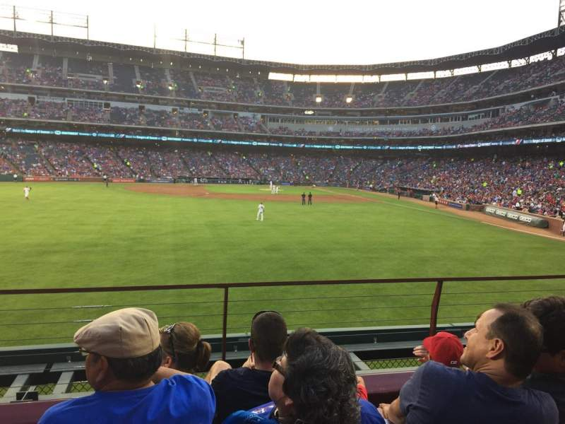 Seating view for Globe Life Park in Arlington Section 05 Row 04 Seat 01