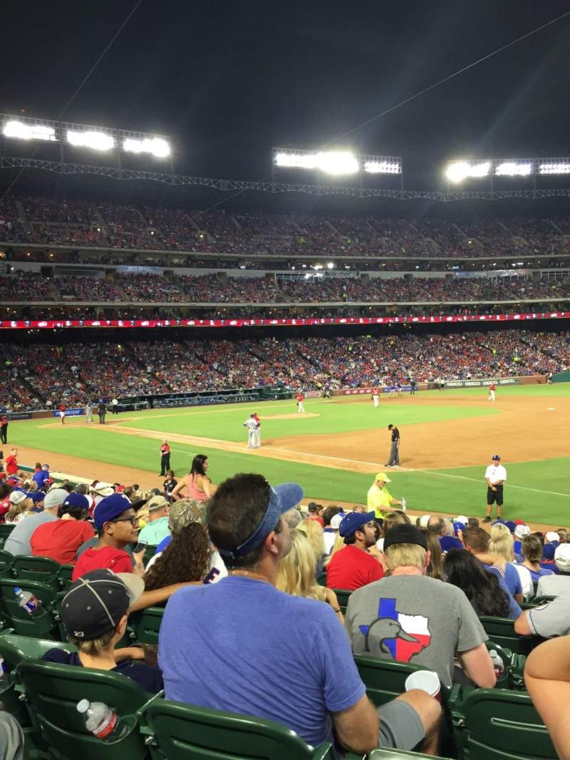 Seating view for Globe Life Park in Arlington Section 37 Row 15 Seat 10