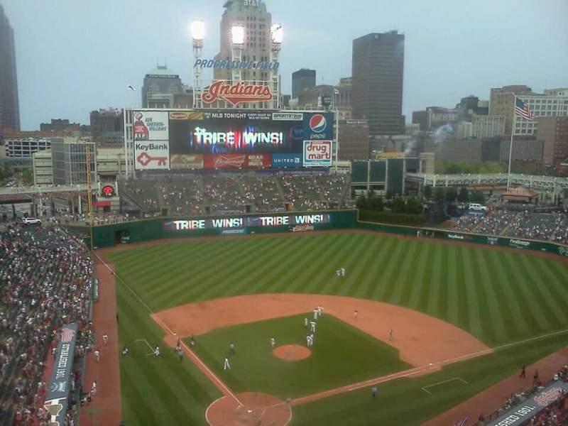 Seating view for Progressive Field Section 552 Row k Seat 16