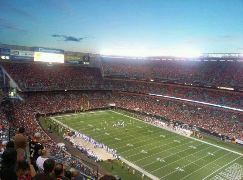 Seating view for FirstEnergy Stadium Section 514 Row 16 Seat 18