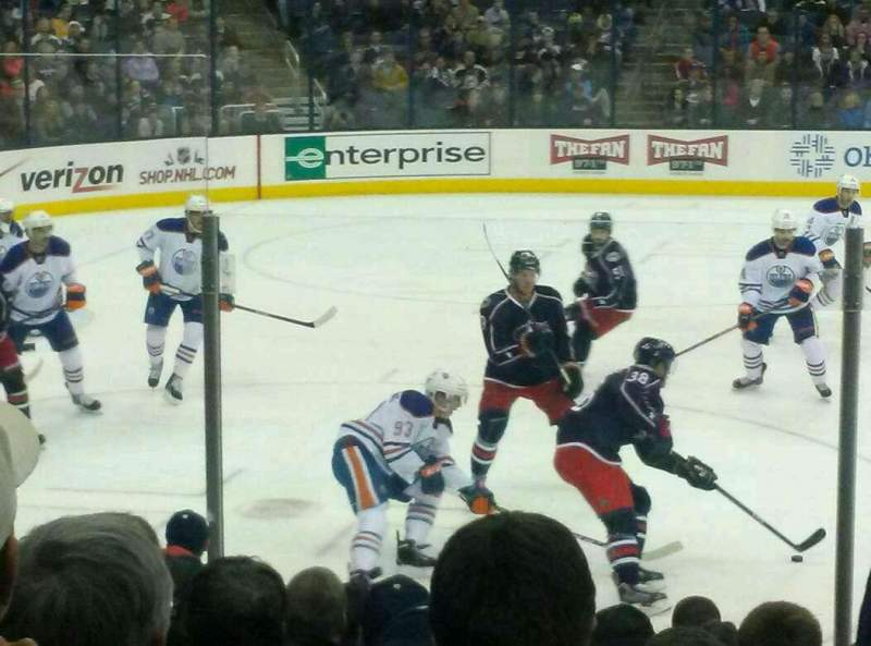 Seating view for Nationwide Arena Section 105 Row K Seat 10