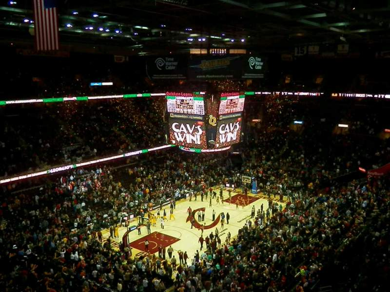 Seating view for Quicken Loans Arena Section 204 Row 7 Seat 1