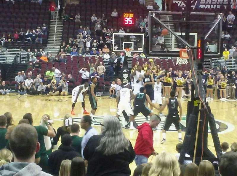 Seating view for Quicken Loans Arena Section 117 Row 2 Seat 5