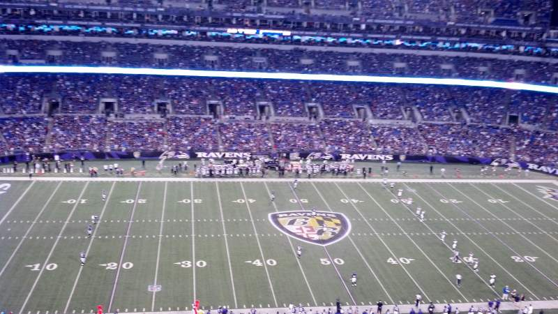 Seating view for M&T Bank Stadium Section 528 Row 12 Seat 8
