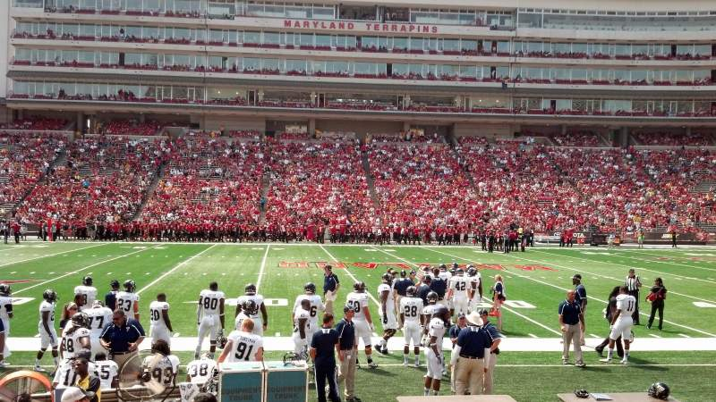 Seating view for Maryland Stadium Section 5 Row L Seat 5