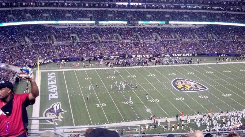 Seating view for M&T Bank Stadium Section 503 Row 11 Seat 4