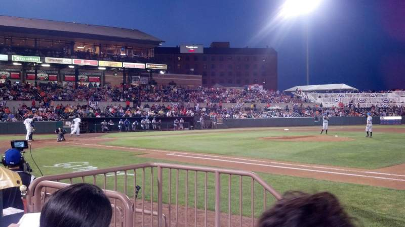 Seating view for Ripken Stadium Section 115 Row B Seat 10