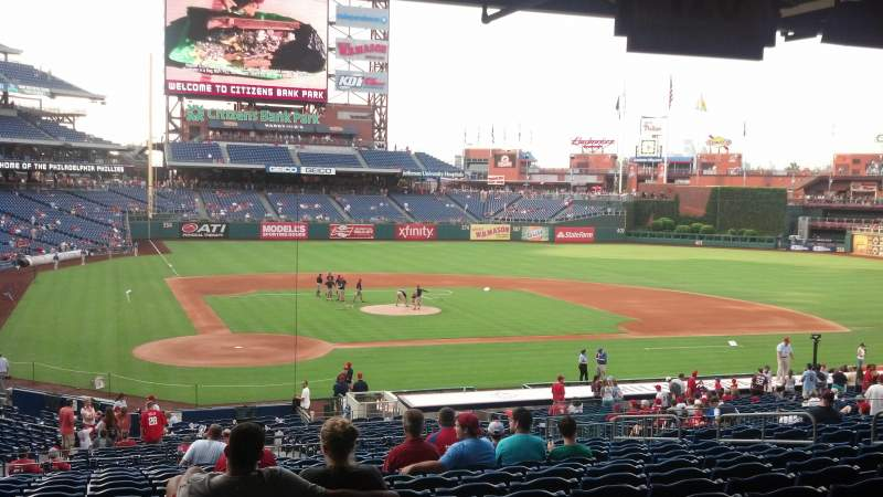 Seating view for Citizens Bank Park Section 121 Row 35 Seat standing