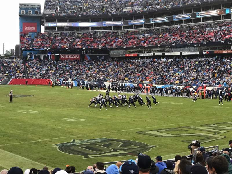Seating view for Nissan Stadium Section 104 Row P Seat 9