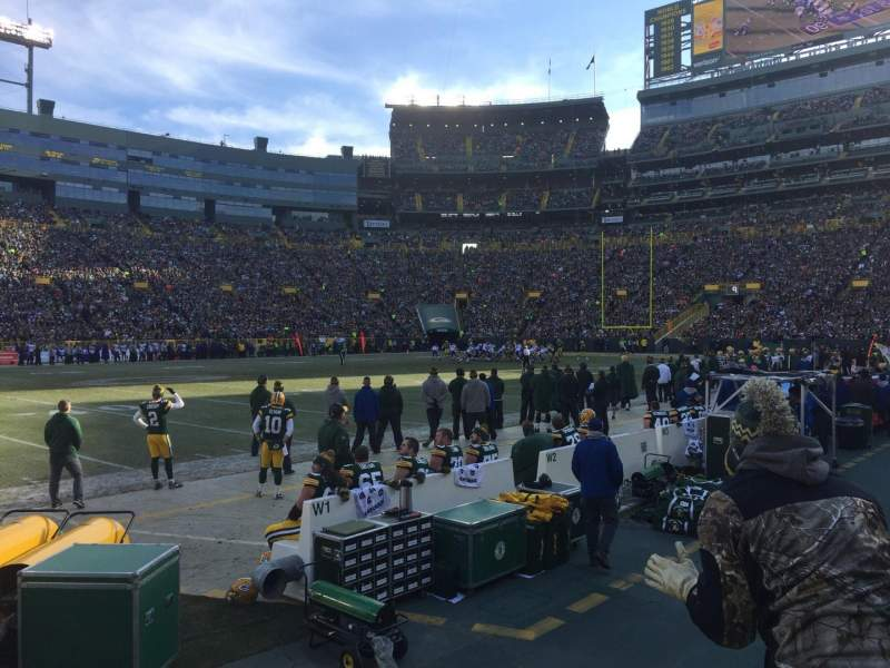 Seating view for Lambeau Field Section 116 Row 2 Seat 8