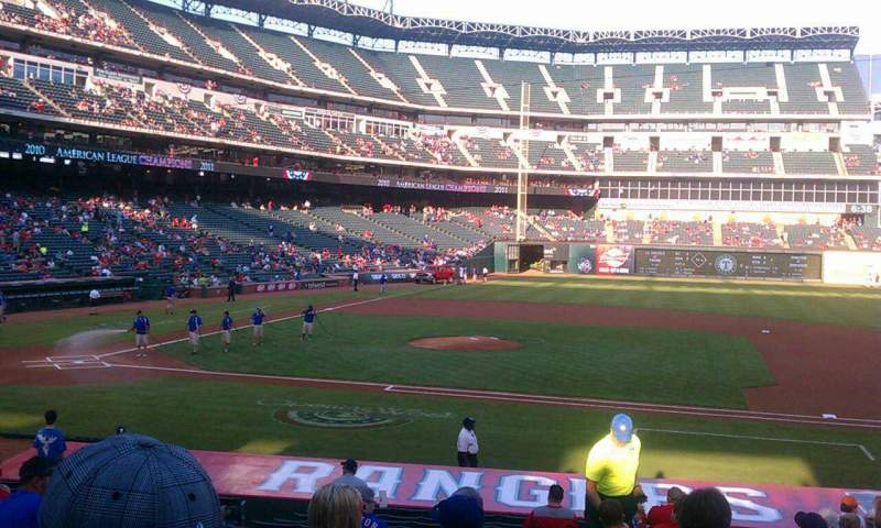 Seating view for Globe Life Park in Arlington Section 33 Row 20 Seat 7