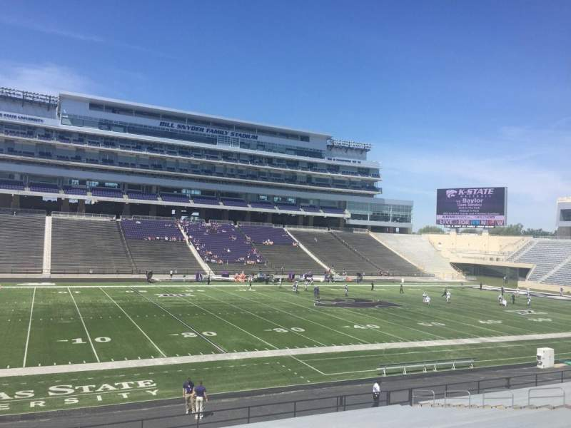 Seating view for Bill Snyder Family Stadium Section 21 Row 29 Seat 1