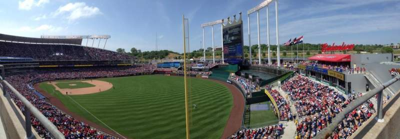 Seating view for Kauffman Stadium Section 439 Row A Seat 8