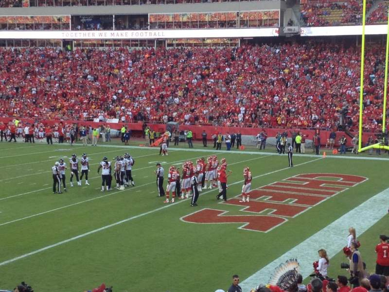 Seating view for Arrowhead Stadium Section 132 Row 22 Seat 11
