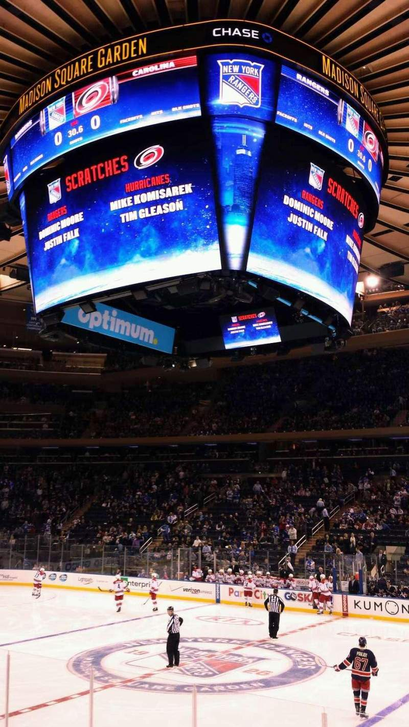Seating view for Madison Square Garden Section 118 Row 7 Seat 17