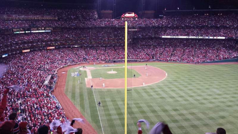 Seating view for Busch Stadium Section 329 Row 7 Seat 2