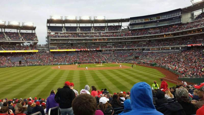 Seating view for Nationals Park Section 104 Row Z Seat 21