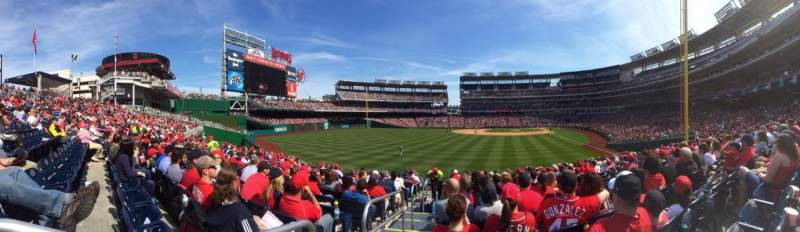 Seating view for Nationals Park Section 105 Row Z Seat 20
