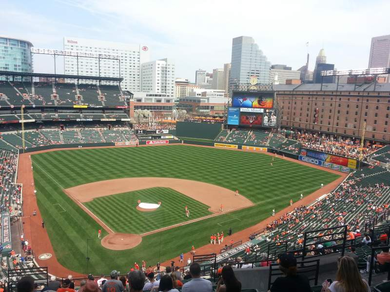 Seating view for Oriole Park at Camden Yards Section 332 Row 19 Seat 12