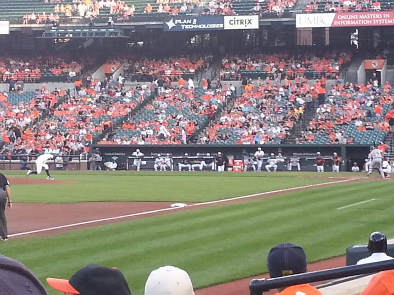 Seating view for Oriole Park at Camden Yards Section 62 Row 4 Seat 8