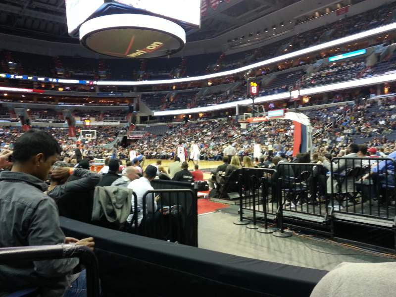 Seating view for Capital One Arena Section 103 Row B Seat 1