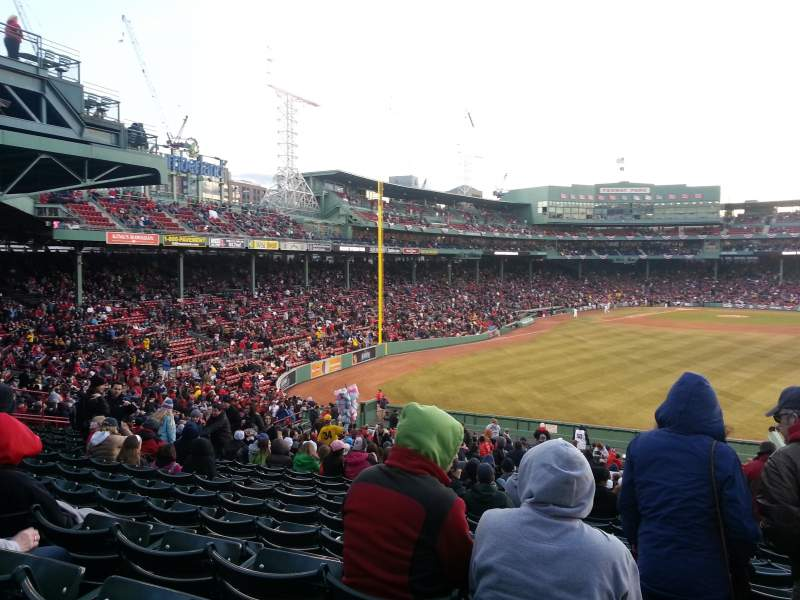 Seating view for Fenway Park Section Bleacher 42 Row 37 Seat 9