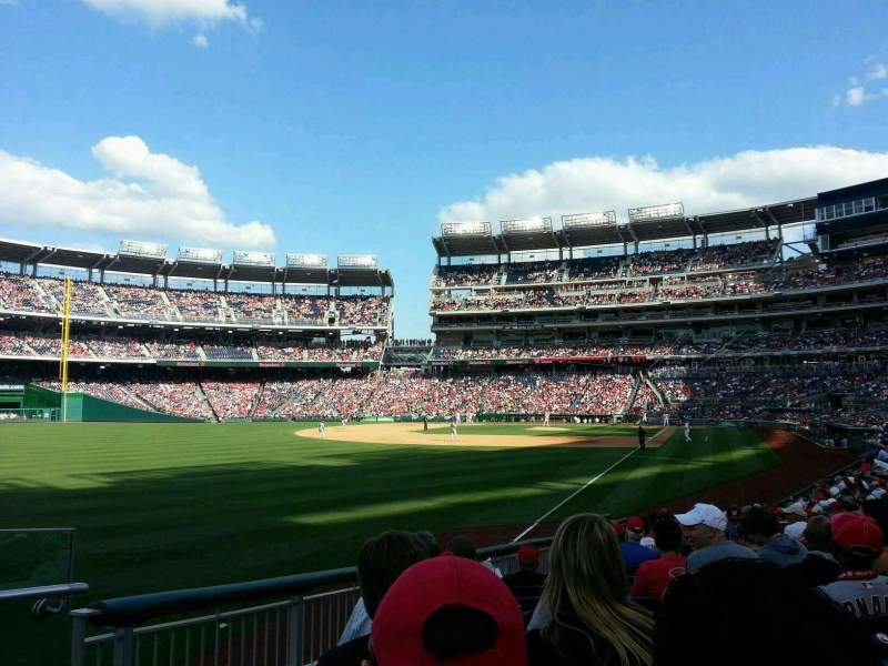 Seating view for Nationals Park Section 108 Row v Seat 18