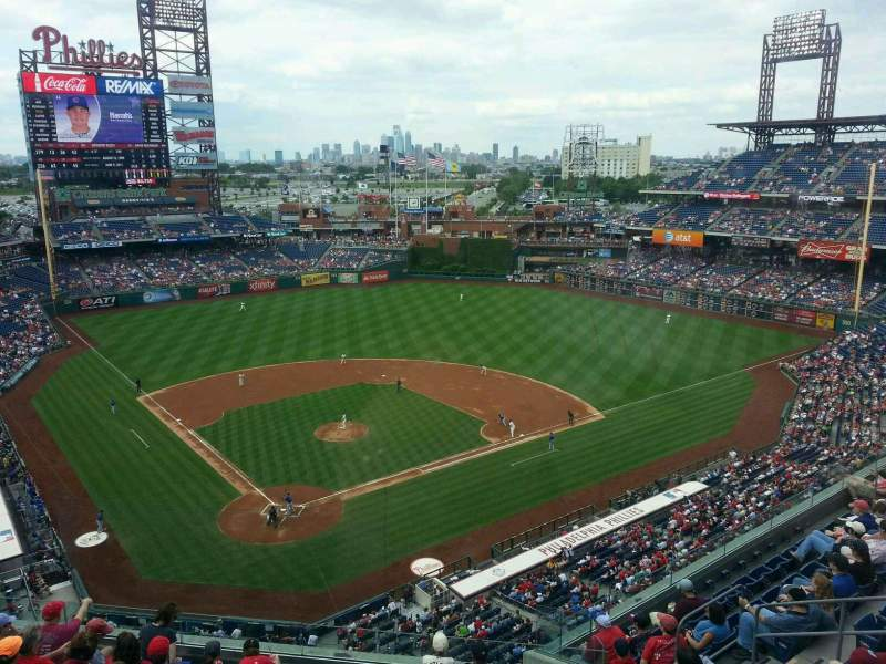 Seating view for Citizens Bank Park Section 419 Row 1 Seat 8