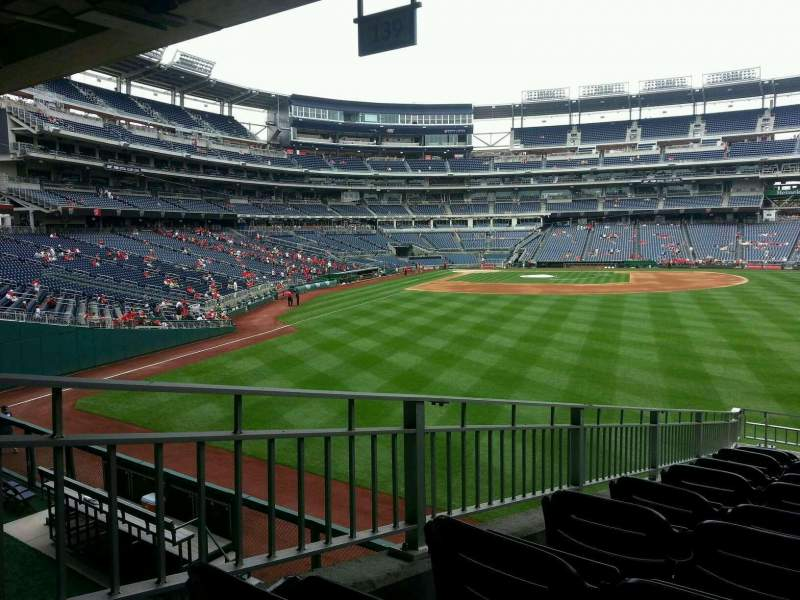 Seating view for Nationals Park Section 139 Row r Seat 4