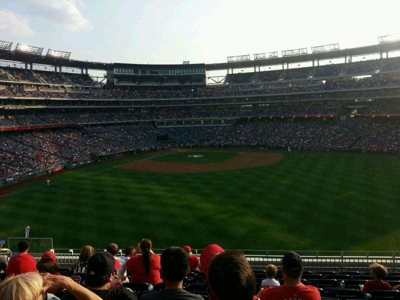 Seating view for Nationals Park Section 242 Row l Seat 15