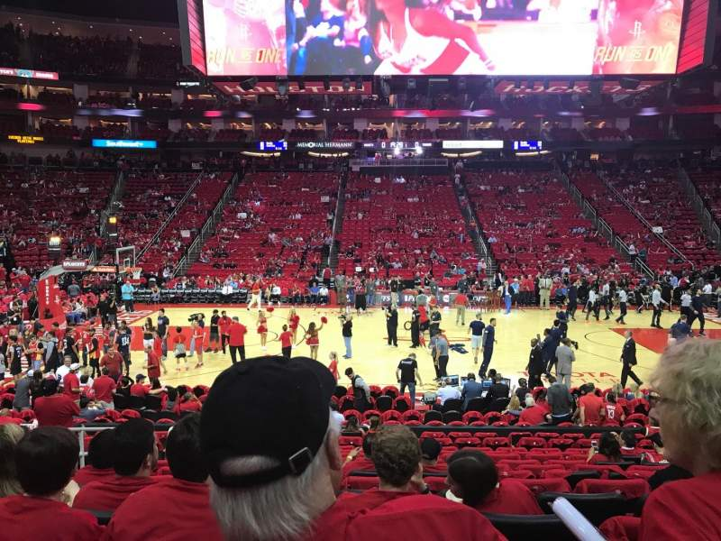 Seating view for Toyota Center Section 107 Row 14 Seat 14