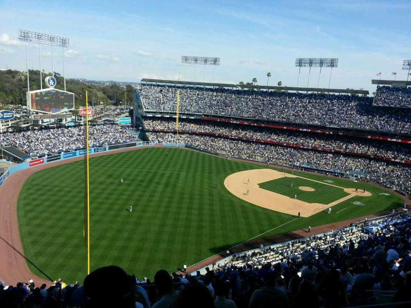 Seating view for Dodger Stadium Section 49RS Row GG Seat 1