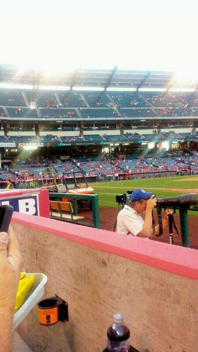Seating view for Angel Stadium Section F126 Row C Seat 16
