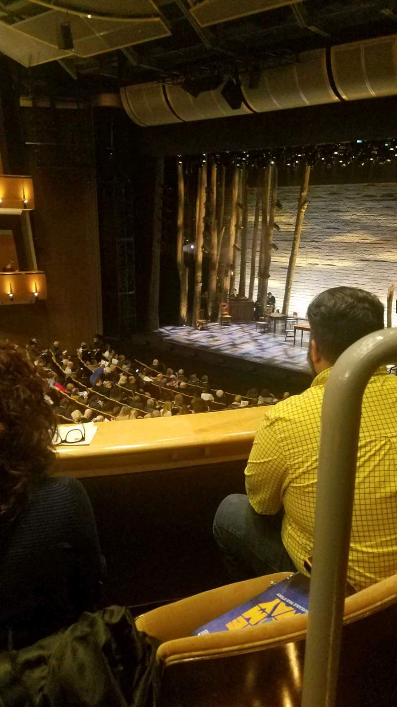 Seating view for Ahmanson Theatre Section mezzanine Row b Seat 1