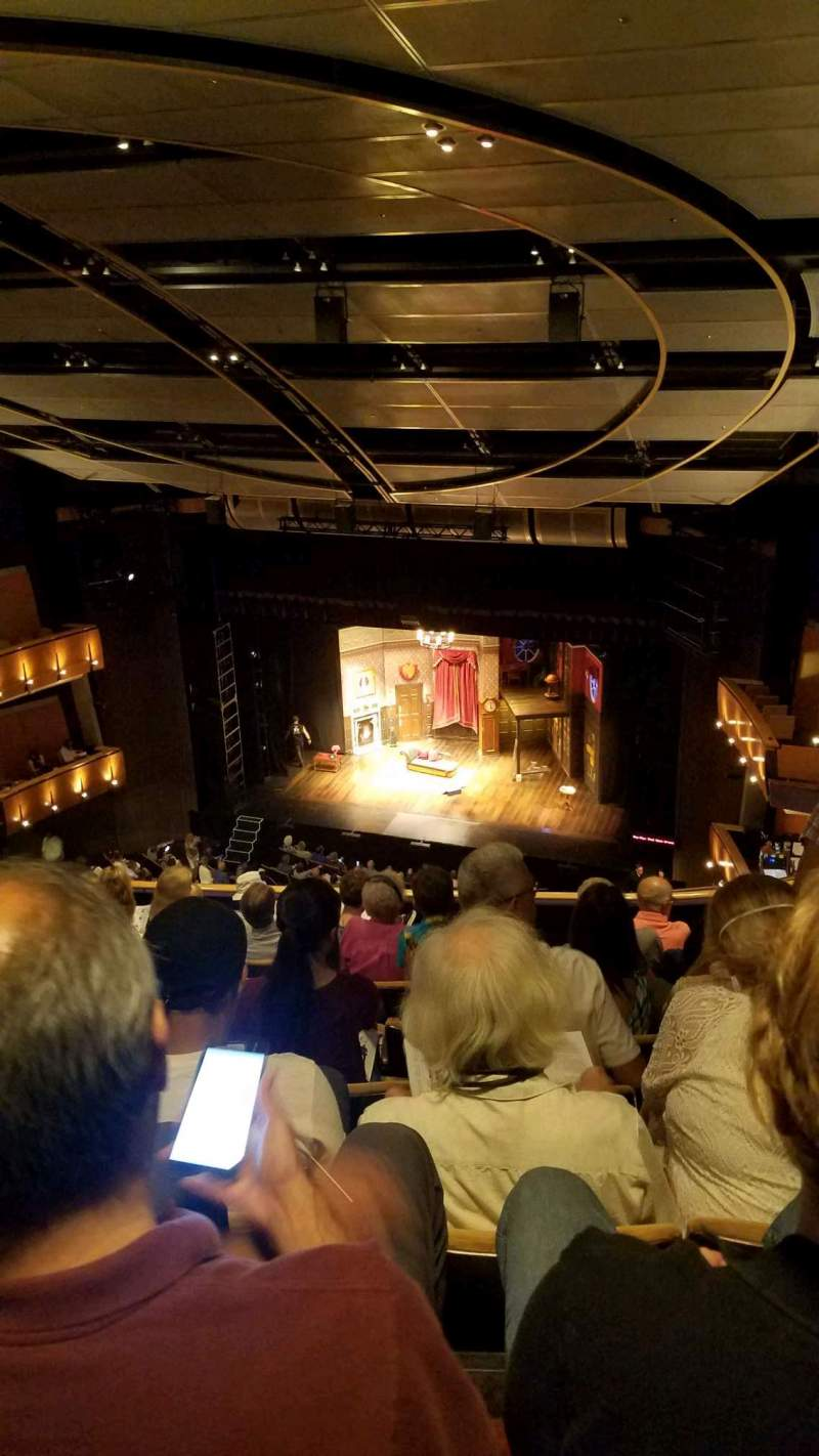 Seating view for Ahmanson Theatre Section balcony Row h Seat 5