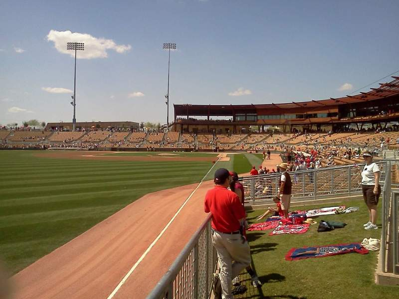 Seating view for Camelback Ranch Section lawn