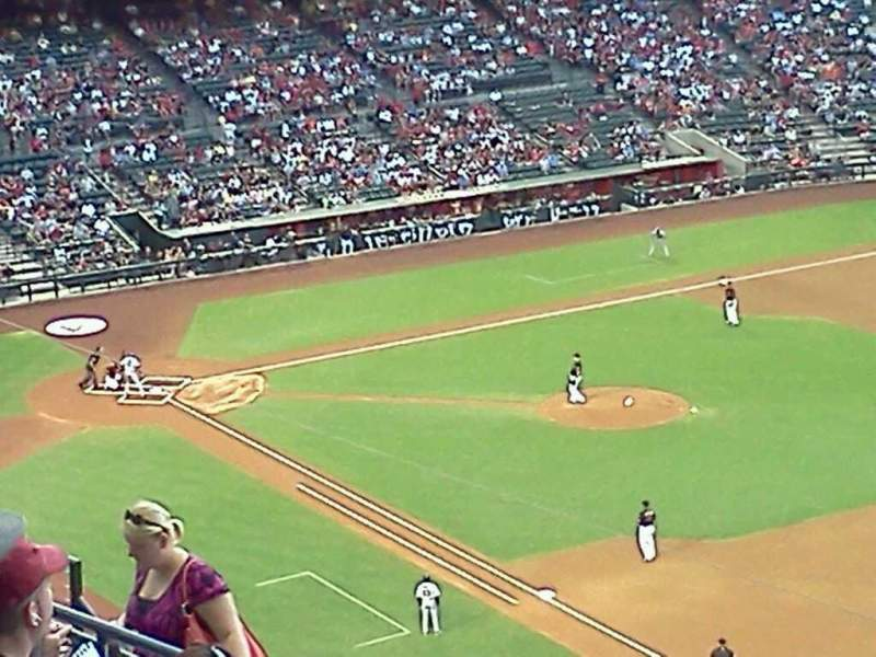 Seating view for Chase Field Section 304 Row 13 Seat 1