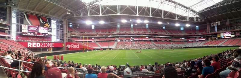 Seating view for University of Phoenix Stadium