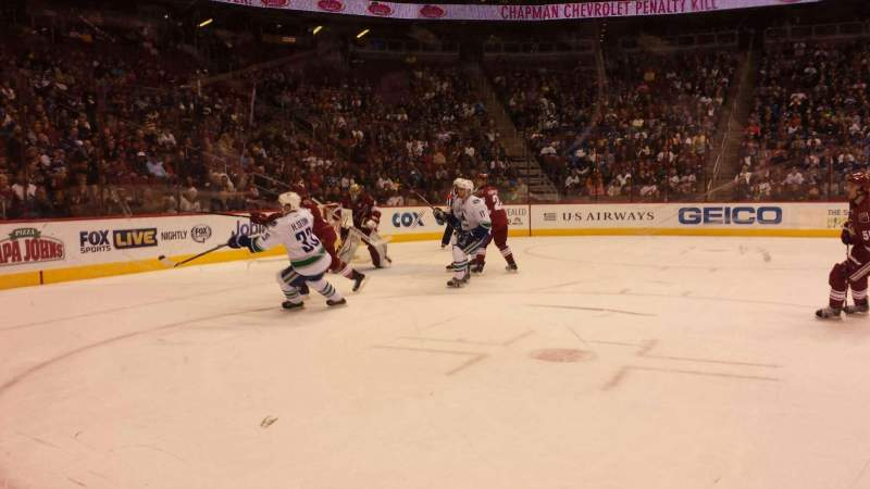 Seating view for Gila River Arena Section 114 Row A Seat 15
