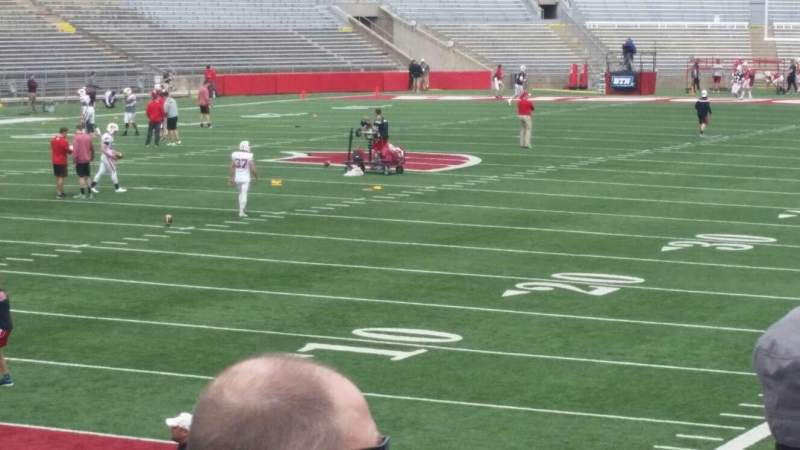 Seating view for Camp Randall Stadium Section y1 Row 20 Seat 14