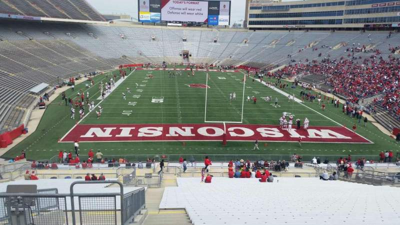 Seating view for Camp Randall Stadium Section yz Row 57 Seat 36