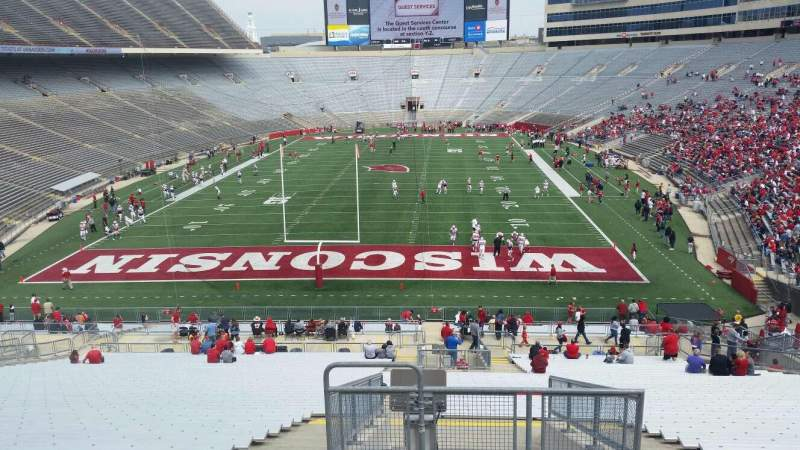 Seating view for Camp Randall Stadium Section y3 Row 57 Seat 36