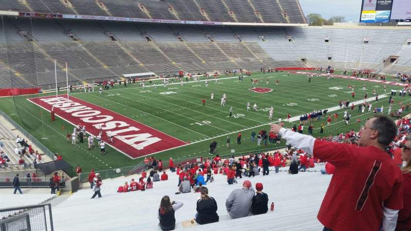 Seating view for Camp Randall Stadium Section x Row 57 Seat 36