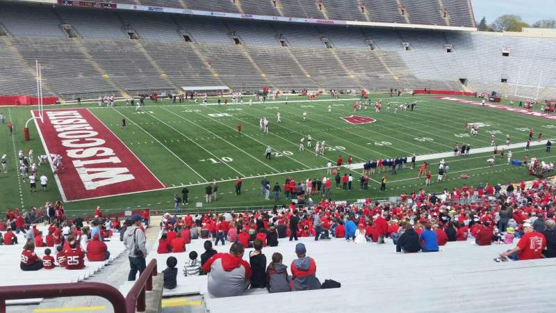 Seating view for Camp Randall Stadium Section w Row 57 Seat 36