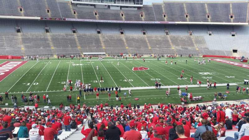 Seating view for Camp Randall Stadium Section u Row 57 Seat 36